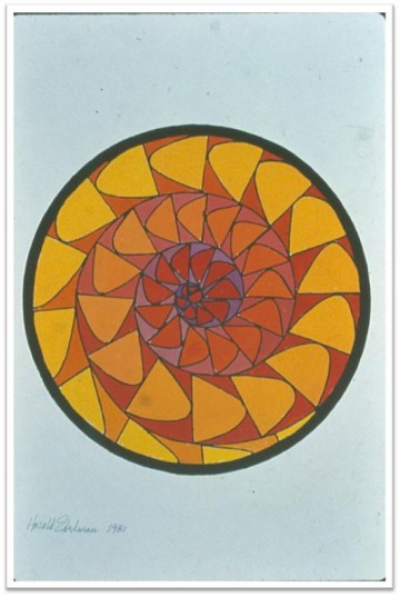 Harold Edelman design for Rose Window in the second-floor chapel. Courtesy St. Mark's Historic Landmark Fund