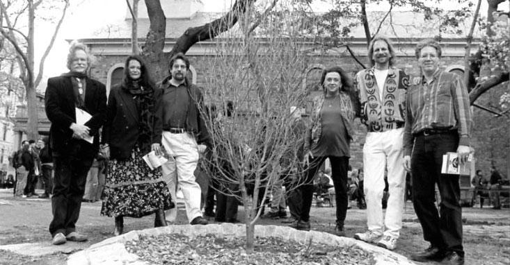 Ed Sanders, Anne Waldman, Bob Rosenthal, Judith Malina, Hanon Reznikov & Ed Friedman - Photo credit: Laure Leber, ca 1997-98